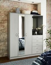Darwen 3 Door 5 Drawer Mirrored Combi Wardrobe New
