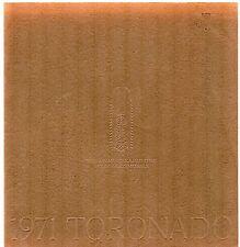 Oldsmobile Toronado 1971 USA Market Sales Brochure