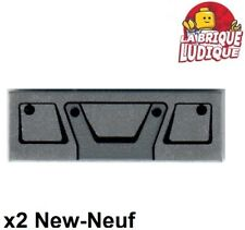 Lego 2x Tile decorated 1x3 Truck Grille grille camion metal 63864pb066 42078 NEW