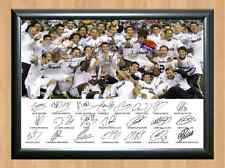 Real Madrid Spain Football Squad Team Ronaldo Signed Autograph Photo Print A4