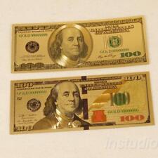 US Dollar goldene Farbe Folie Rechteck Gedenkmünze Münzen Sammlung DE` P5W9