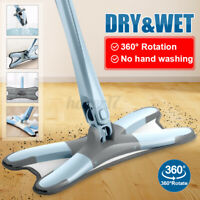 X-type 360 Reusable Rotating Spin Mop Bucket Microfiber Cleaning Mop + Cloth Mop