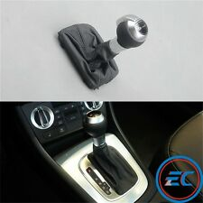 Shift Knob Automatic Gear Shift Handle Leather For VW AUDI DSG S-Tronic Q3 A4 A6