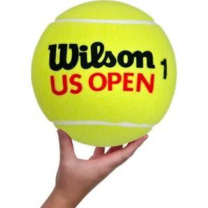 "**NEW** WILSON US OPEN (NEW LOGO) NON-INFLATED JUMBO NOVELTY TENNIS BALL (~9"")"