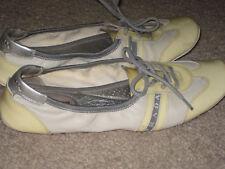 Prada Ballet Flats Leather-yellow/cream women shoe Size Marked as 37 but run big