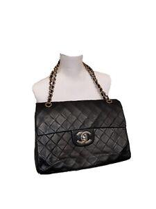 Chanel Timeless Classic Maxi Jumbo Flap Bag Tasche Schwarz Vintage