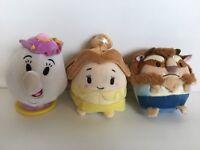 Disney Store Beauty and the Beast Ufufy Mini Plush Set And Disney Mrs. Potts