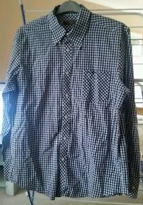 Mens XL Ben sherman navy & white check shirt