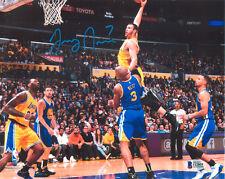 LARRY NANCE JR Autograph 8x10 Lakers Photo - DAVID WEST DUNK - Beckett COA