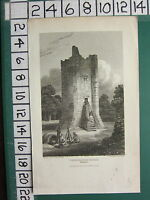 1813 Datato Antico Yorkshire Stampa ~ Conisbrough Castle