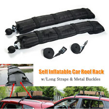 2PCS Car Roof Rack Soft Self Inflatable Luggage Carrier w/Rope Buckles Universal