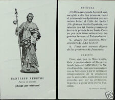 OLD BLESSED SANTIAGO APOSTLE HOLY CARD ANDACHTSBILD SANTINI SEE MY SHOP C657