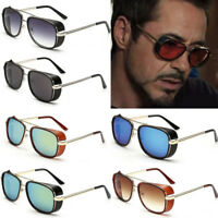 Iron Man 3 Robert Downey TONY Sunglasses Red Lens STARK Personalized glasses HOT