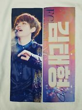 BTS Taehyung V slogan with white reflection+5 stickers+3 photo cards package