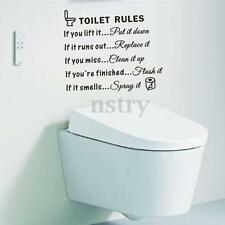 Removable Toilet Quote Wall Sticker Vinyl Art Decal Home Bathroom Mural Decor