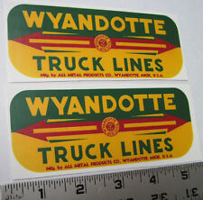 Replacement water slide decal set for Wyandotte Truck Lines