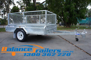 7x5 HOTDIP GALVANISED FULLY WELDED TIPPER BOX TRAILER 600mm REMOVEABLE CAGE