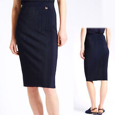 New PER UNA Plisse Pleat BODYCON PENCIL SKIRT ~ Size 8, 10 or 12 ~ NAVY