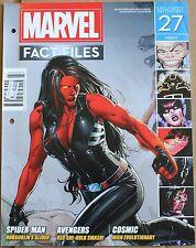 Marvel Fact Files 27 Red She Hulk Cover Eaglemoss Magazine Venom Rhino