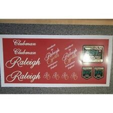 Raleigh Clubman decal set, including 531's.