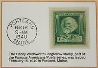 1940 1c The Henry Wadsworth Longfellow Stamp