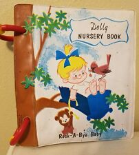 VINTAGE DOLLY NURSERY RHYMES & SONGS PICTURE BATH BOOK (1960's or 1970's)