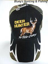 Predator mens Hunting ''Deer Hunter to the core''camo/black front shooting cap
