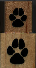 """mounted rubber stamps   Dog track set of 2     1"""" X 1"""" & 3/4"""" X 3/4"""""""