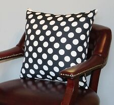 "Black Polka Dot Cushion Cover 18""x18"""