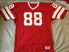 VINTAGE UNIVERSITY OF WISCONSIN  GAME USED WORN FOOTBALL JERSEY SIZE 2X #88 1978