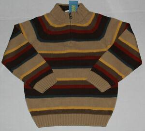 5 NWT Gymboree COWBOY TRAILS Brown Striped SWEATER Boys