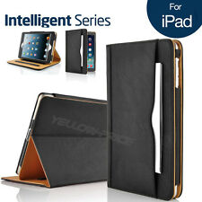 For Apple ipad 2/iPad 3 4 Business Soft Leather Smart Stand Case Wallet Cover