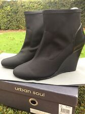 Brand New,  Urban Soul black Womens Ankle Boot In size 39 or 8 - RRP $189.95
