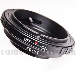 Canon FD lens to Samsung NX Galaxy NX-2000 NX-300 NX-310 1100 mount adapter ring