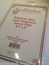 "NEW Spellbinders Grand Calibur JUNIOR RASPBERRY PLATE GC-012 8.5"" x 6"" Embossing"