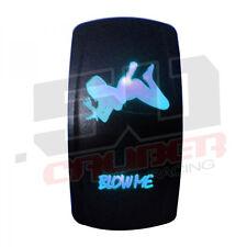 Rocker Switch 12V Hot Girl Blow Me Marine Ski Wakeboard Bass Pontoon Boat Blue
