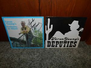 FARON YOUNG FORTUNES IN MUSIC  AUTOGRAPHED / SIGNED + DEPUTIES SEALED LP