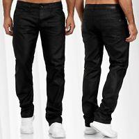 Pantalon en jean pour homme Pantalon en cuir Optique enduit surdimensionnés
