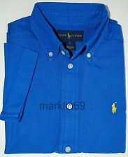 Boys Genuine Ralph Lauren Blue Short Sleeve Cotton Shirt From 2yrs to 14-16yrs