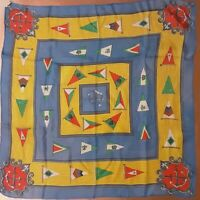 1950's Nautical Silk Scarf w/ Flags by Glenty (22 x 22)