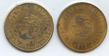 Pair of GM Auto Tokens (#9195) Both 32MM. Carefully Check out the Photos.
