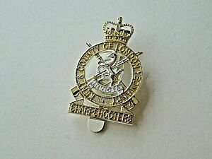 Kent  & County of London Sharpshooters Staybrite Cap Badge