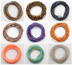 African Waist Beads - 3 Strands per set Sizes up to 50 Inches