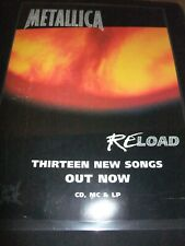 ☆☆ METALLICA RELOAD ADVERT FOR CD LP MC A4 ARTICLE CLIPPING
