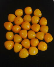HUGE 18MM NATURAL CREAMY EGG YOLK BUTTERSCOTCH AMBER BEADS  111 GRAMS