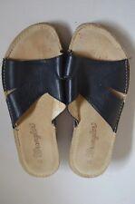 WRANGLER Jeans,leather Navy blue Sandal Mule slip-on Rubber sole SHOE  size uk 3