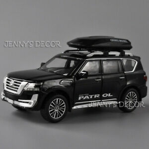 1:32 Diecast Car Model Nissan Patrol SUV With Roof-Box Replica Pull Back Toy