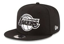 Los Angeles Lakers New Era 9Fifty Basic Black White Adjustable Snapback Hat Cap