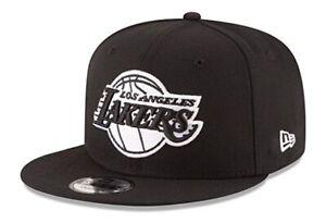 Los Angeles Lakers New Era 9Fifty Basic Black White Adjustable Snapback Hat Cap
