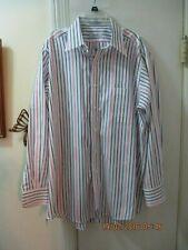 IZOD  White w/Stripes Easy Care Button-down Collar Dress Shirt - Size 16 (32/33)